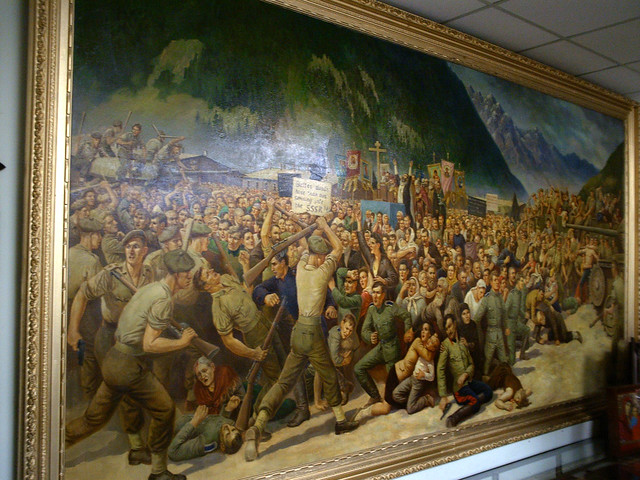 Cossack tragedy at Leinz, Austria, 1945