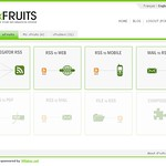 Web 2.0: xFruits - feed mixing & publishing service