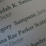 Gregory Sampson, Juris Doctor