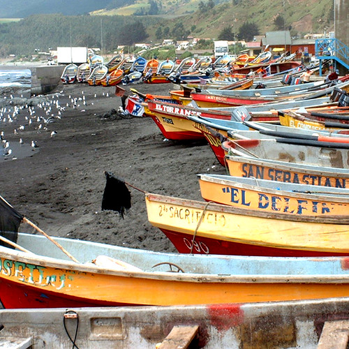 Botes en Duao / Boats in Duao (Chile)