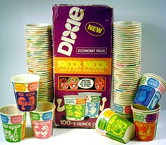 1970's Knock Knock Dixie Cups
