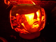 carving, yellow, red, pumpkin, halloween, lantern, jack-o'-lantern, lighting,
