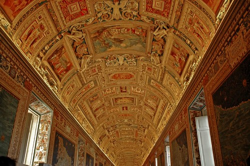 ceiling in the Gallery of Maps by Alida's Photos