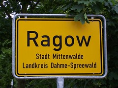 Ortseingangschild Ragow