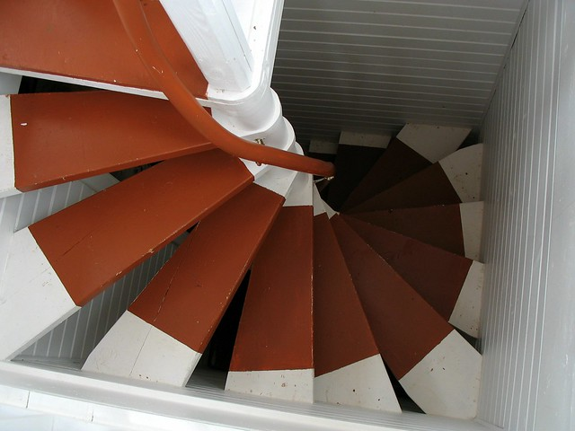 Spiral Square Stairs These Lead To The Cupola Of The
