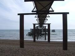 beach, sea, pier, coast,