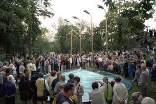 The unveiling of the Kekkonen monument in Helsinki on 2000-09-03.