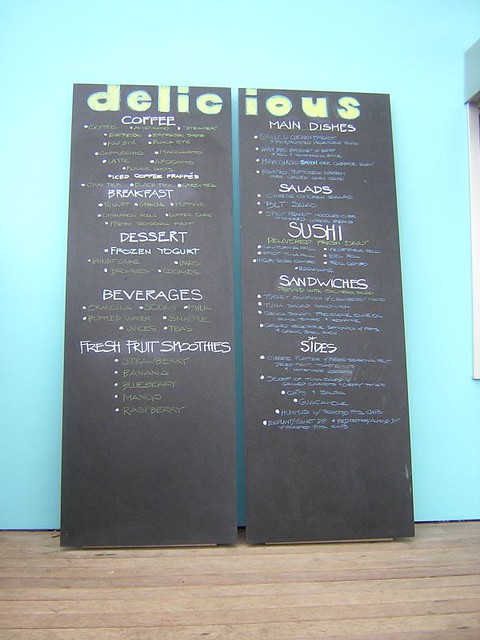 Chalkboard Menu At Delicious Flickr Photo Sharing