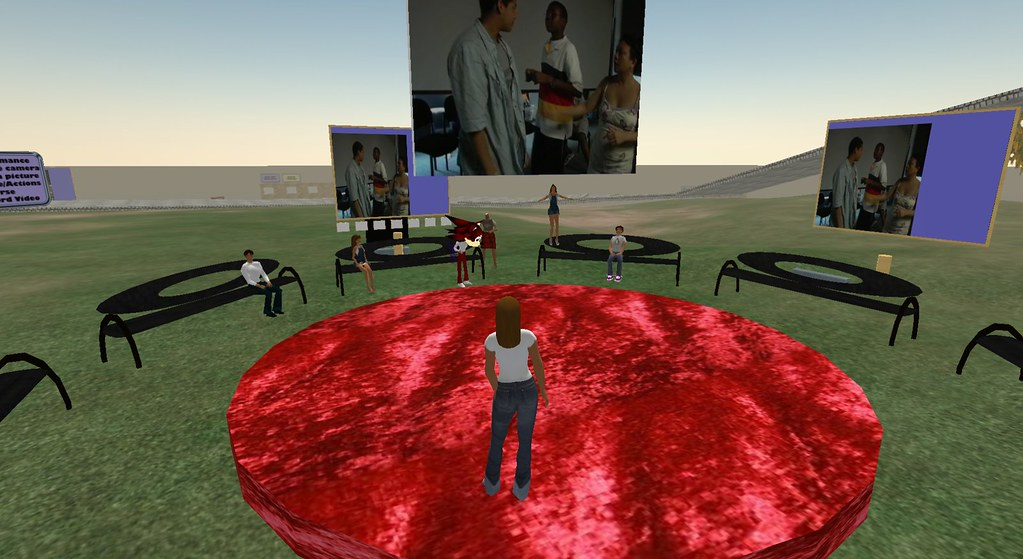 real life stream into Second Life