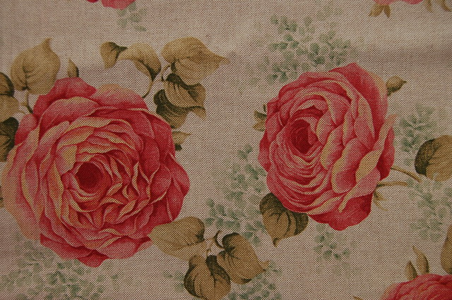 Rose fabric at a treasure hunt in Nyköping, Sweden #studioihanna