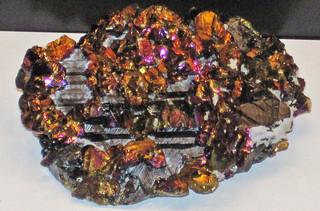 Chalcopyrite on sphalerite (Bolut Mine, Cavnic, Romania)