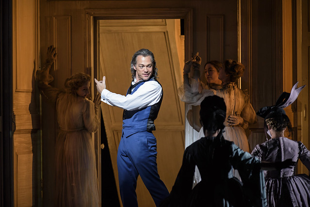 Christopher Maltman as Don Giovanni with Members of The Royal Opera Chorus in Kasper Holten's Don Giovanni © ROH. Photograph by Bill Cooper, 2015