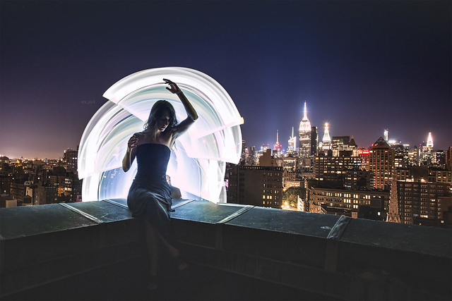 Light-painting and rooftopping in NYC
