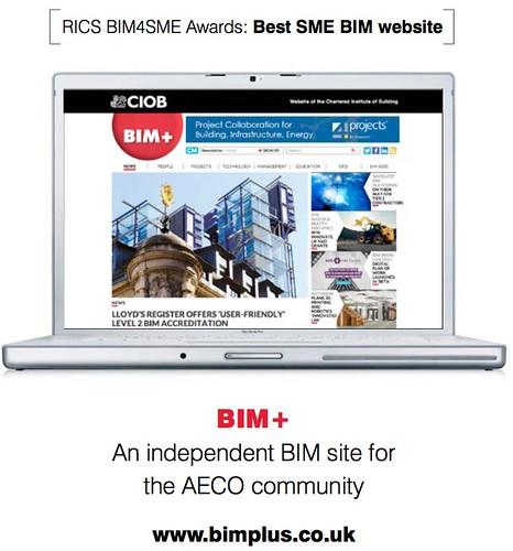 Atom Publishing Best BIM SME Website for BIMplus BIm4SMEawards