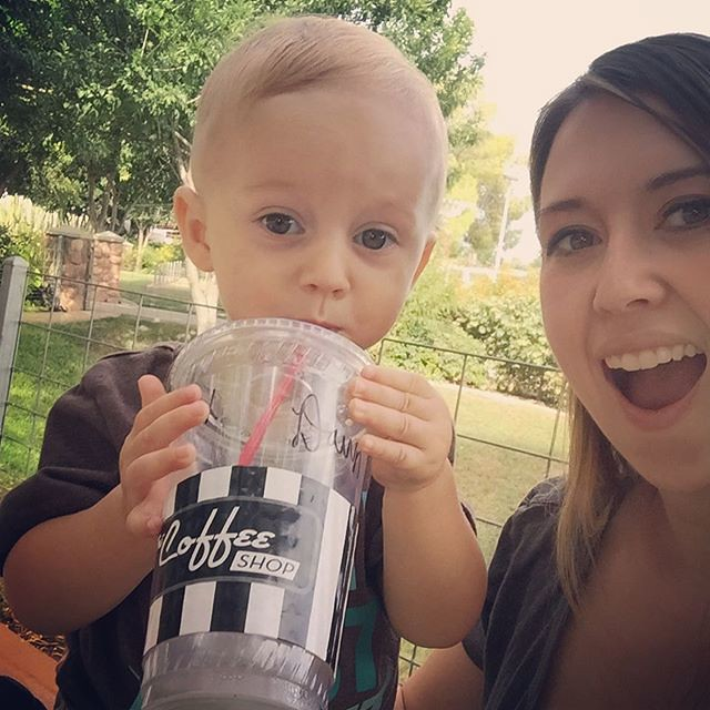Archer is @thecoffeeshopaz 's littlest fan - yum yum!! by bartlewife