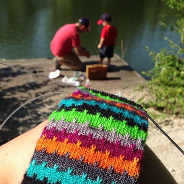 @helloknittykate Just got back from fishing and dinner (not fish) with my boys. #graysongram #greatoutdoorskal #greatoutdoorskal2015 #WhizBang