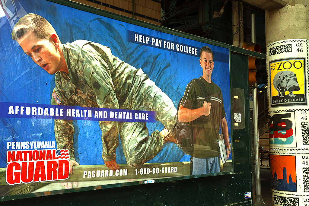 National Guard billboard at Girard Station--North Philadelphia