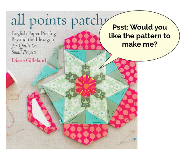 The Cover Girl Rosette EPP Pattern, from All Points Patchwork