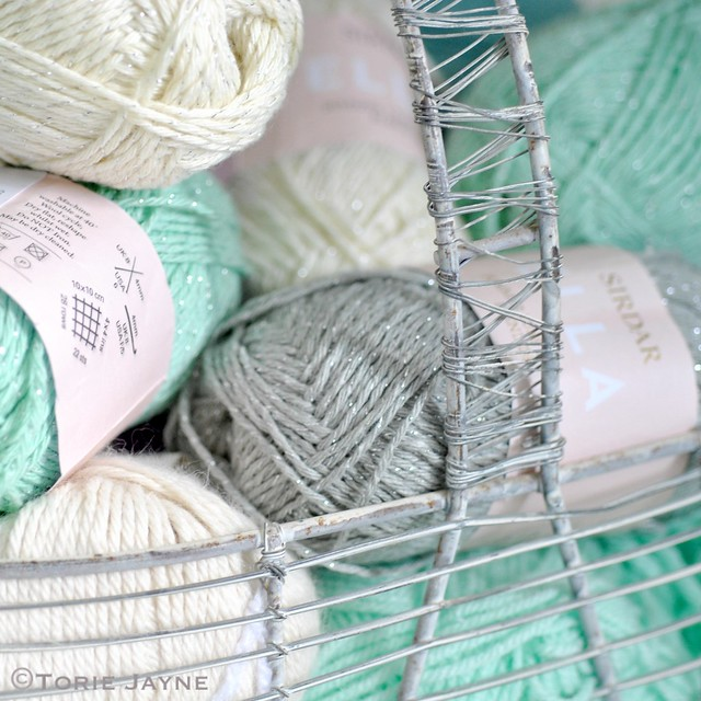 basket of yarns
