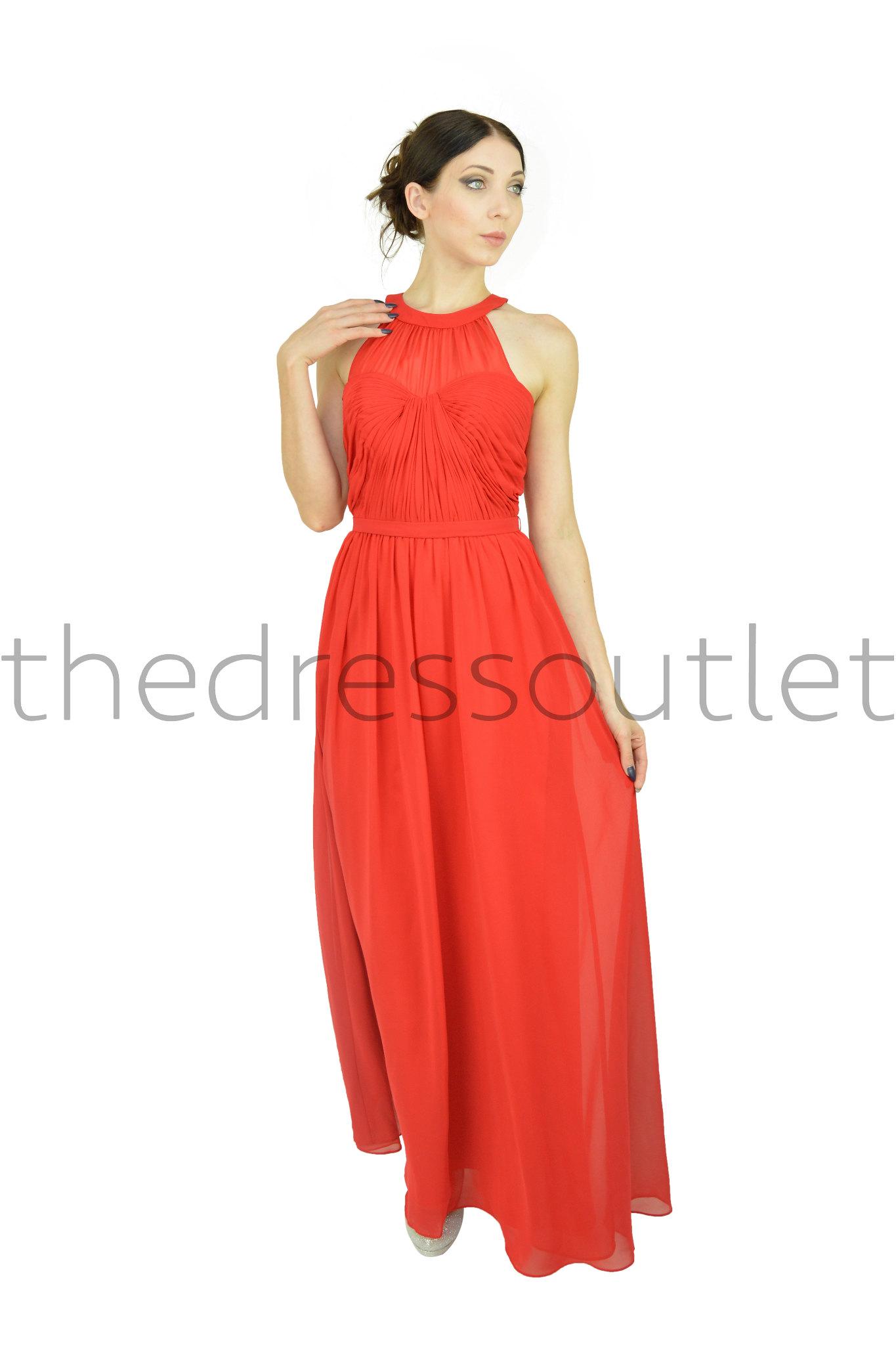 Modern Formal Attire: Long Round High Neck Chiffon Modern Design Formal Dress