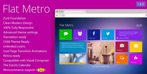 Flat Metro v1.8.5 - Responsive WordPress Theme
