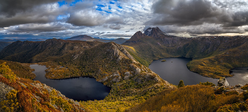 Cradle Mountain and lakes