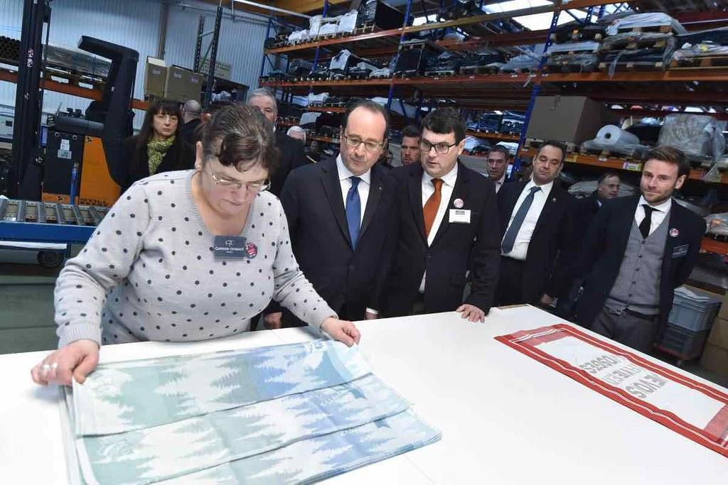 Visite de François Hollande chez Garnier-Thiebaut - 2017