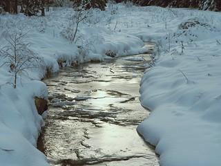 snow, ice, water
