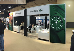 Lacoste Fabric Tradeshow Booth Frontlit
