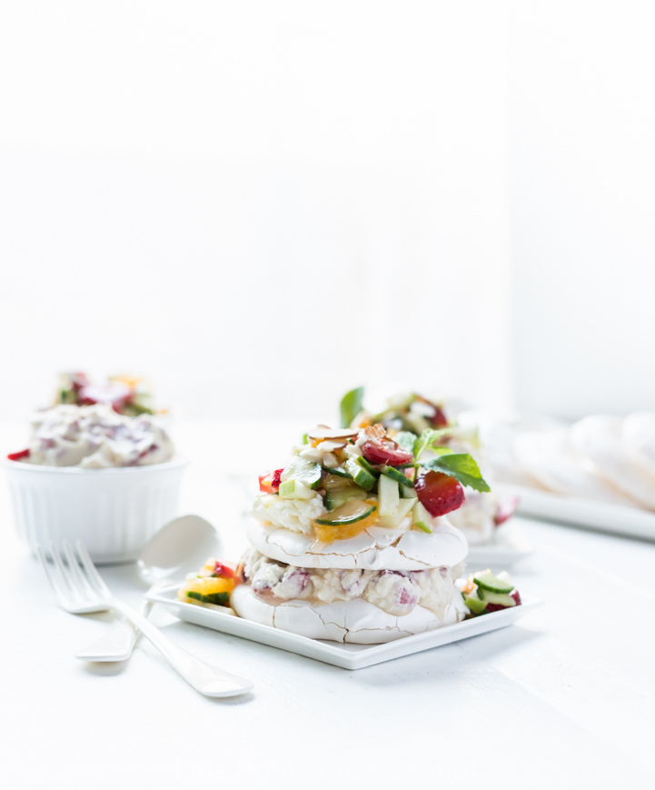 Pimm's Cup Strawberries and Cream Eton Mess. A cross between several items served at Wimbledon in one delicious dessert. width=