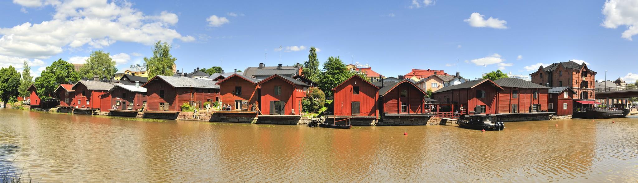 Porvoo - Lagerhäuser am Porvoonjoki