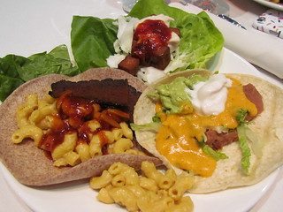Taco Buffet lunch - variation on all three options.