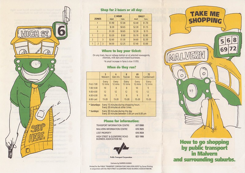 How to go shopping by public transport in Malvern and surrounding suburbs (1992) - 1/2