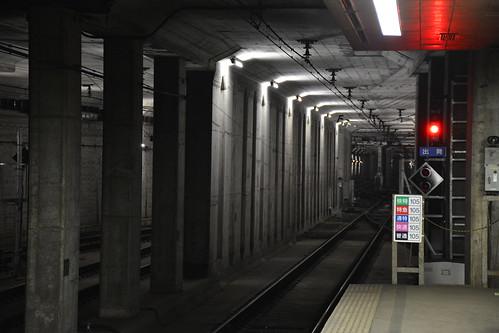 東成田駅:トンネル