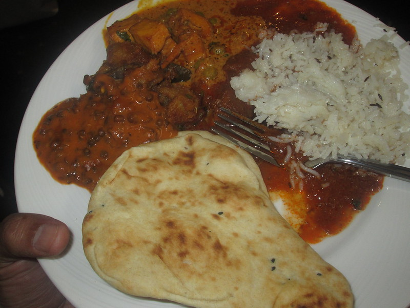 Plate of Indian food