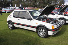 race car, automobile, vehicle, peugeot 205, land vehicle, hatchback,