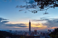 Sunset .Taipei 101 ,Taiwan