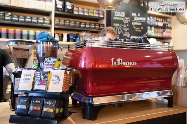 Coffee beans served and sold at Cafe Plume with the La Marzocco