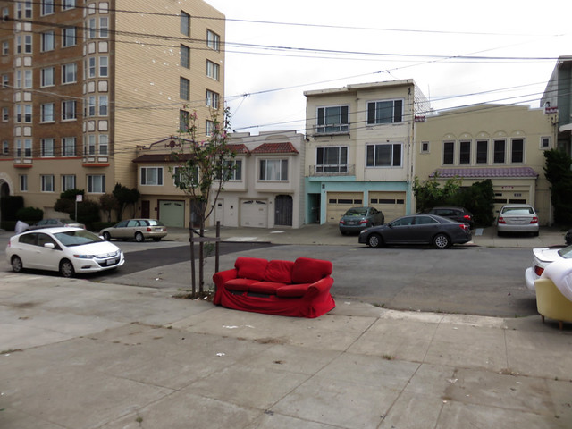 red couch on 26th ave (in front of my house) -2015