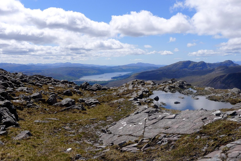 Loch Carron from the Bealach Mhor
