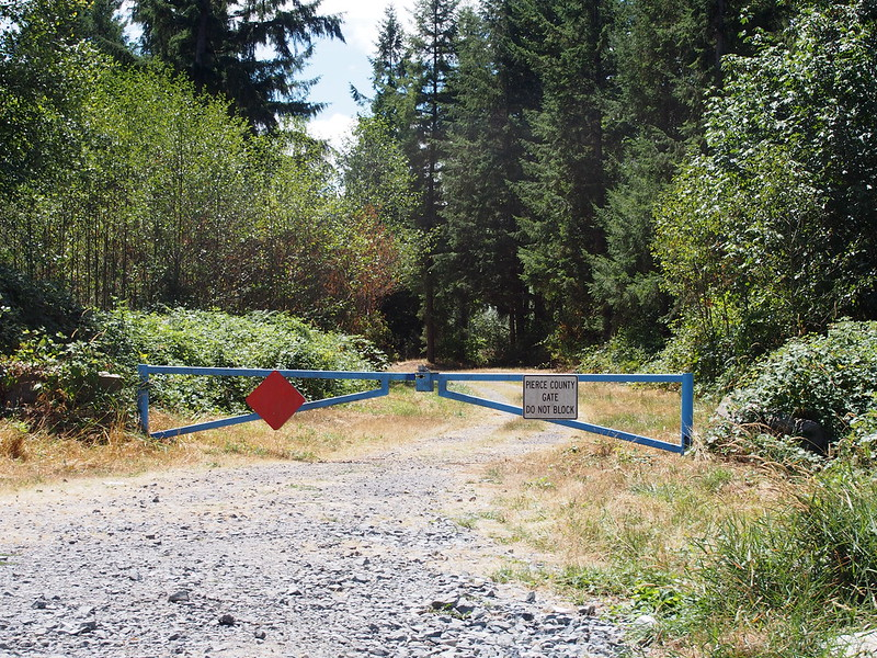 Pierce County Gate: I wonder what's behind these gates I see all over the place.