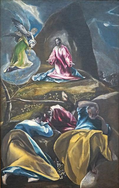 Jésus au jardin des oliviers du Greco (musée des beaux-arts de LIlle)