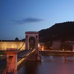 Bro över Rhône i Tain l'Hermitage