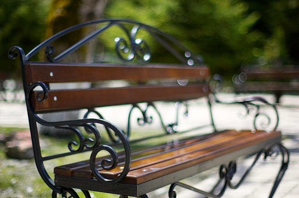 Абхазия. Скамейка на озере Рица, f1.2