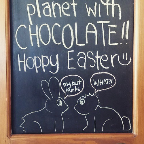 Hillarious chocolate bunnies :)