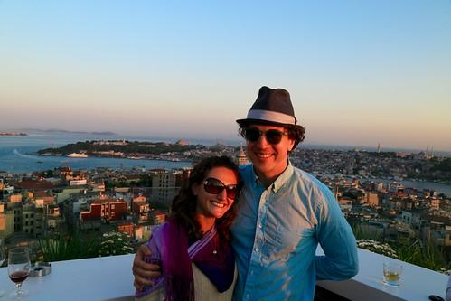 Sunset view from the rooftop bar at Mikla at The Marmara Pera
