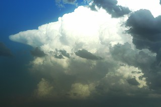 There was wind, hail and big rains in those clouds.