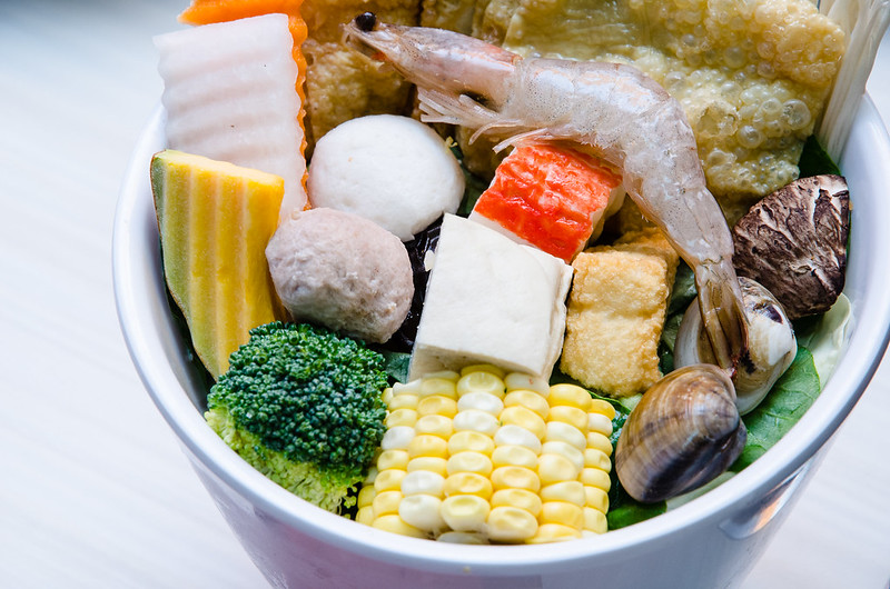 The ingredients of hot pot at Two Pesos Malaysia SS2