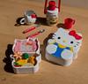 Hello Kitty Re-ment bento box, flask and mug