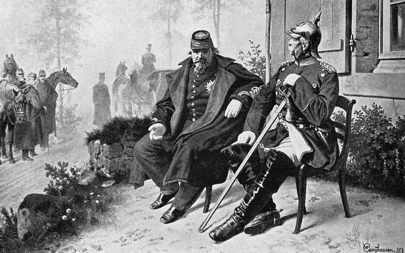 Otto von Bismarck and Napoleon III after the Battle of Sedan in 1870, by Wilhelm Camphausen